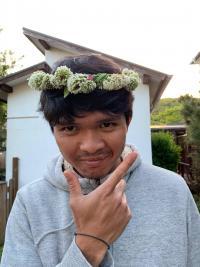 可愛いお花の冠[4]
